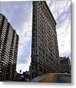 The Flat Iron Taxi Metal Print