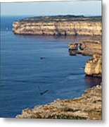 The Flight Over Dwejra  Metal Print