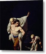 The Flood Metal Print by Jean-Baptiste Regnault
