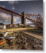 The Forth Rail Bridge Metal Print