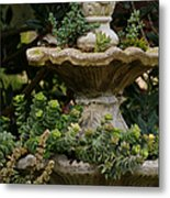 The Fountain Painterly Metal Print