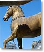 The Four Horses Of St Mark's  Metal Print