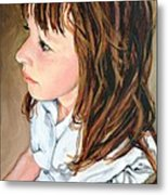 The French Girl Metal Print