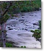 The Frozen Snake River Metal Print