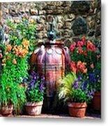 The Garden Cistern Metal Print