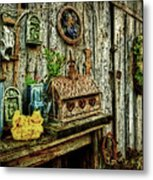 The Garden Shed Metal Print by Kathy Jennings