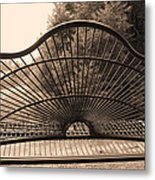 The Garden Swing Metal Print
