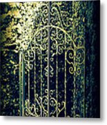 The Gate In The Grotto Of The Redemption Iowa Metal Print