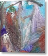The Gentle Waves Will Carry You Back To Me Metal Print