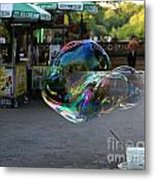 The Giant Bubble At Bethesda Terrace Metal Print
