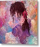 The Girl Of Many Colors Metal Print