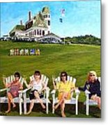 The Girls At Castle Hill Metal Print