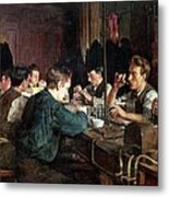 The Glass Blowers Metal Print by Charles Frederic Ulrich