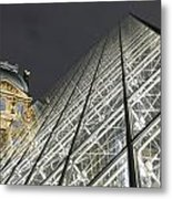 The Glass Pyramid And The Louvre At Dusk Metal Print