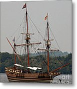 The God Speed Tall Ship Metal Print