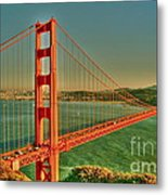 The Golden Gate Bridge Summer Metal Print by Alberta Brown Buller