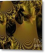The Golden Mascarade Metal Print by Maria Urso