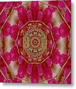 The Golden Orchid Mandala Metal Print