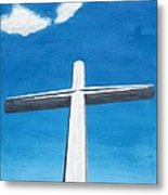 The Great Cross - Risen Metal Print
