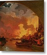 The Great Fire Of London Metal Print