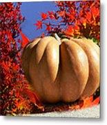 The Great Pumpkin And October Colors Metal Print
