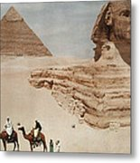 The Great Sphinx And The Second, Or Metal Print