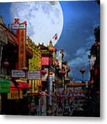 The Great White Egret Of Chinatown . 7d7172 Metal Print