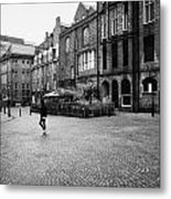 The Green Aberdeen Old Town City Centre Scotland Uk Metal Print