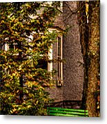 The Green Bench Metal Print