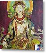 The Green Tara Metal Print
