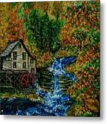 The Grist Mill in Autumn Metal Print
