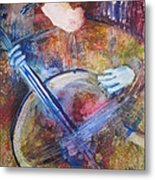 The Guitar Player Metal Print