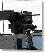 The Gun Mounted On Top Of The Dingo II Metal Print
