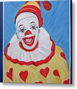 The Happy Clown Metal Print
