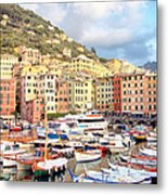 The Harbor At Camogli Metal Print