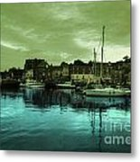 The Harbour At Padstow Metal Print