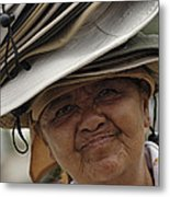 The Hat Lady Costa Rica Metal Print