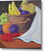 The Healthy Fruit Bowl Metal Print by Janna Columbus