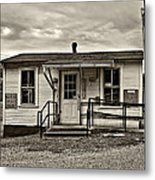 The Heart Of Glady Sepia Metal Print