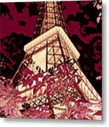 The Heart Of Paris - Digital Painting Metal Print
