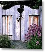 The Heart, Like An Old Gate Needs Care And Attention Metal Print