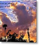 The Heavens Tell Metal Print