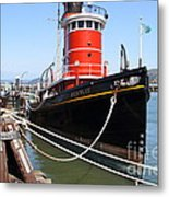 The Hercules . A 1907 Steam Tug Boat At The Hyde Street Pier In San Francisco California . 7d14137 Metal Print