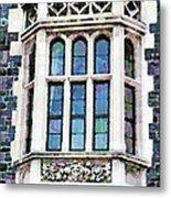 The Heritage Windows Of The Teachers' College Metal Print