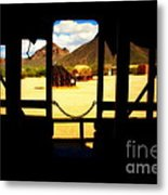 The Hills In Old Tuscon Az Metal Print