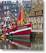The Historic Fishing Village Of Honfleur Metal Print