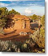 The Hogan Where  We Stayed Canyon Dechelly Nps Metal Print