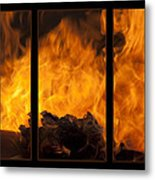 The Home Fires Are Burning Triptych Metal Print