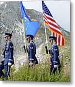 The Honor Guard Posts The Colors Metal Print