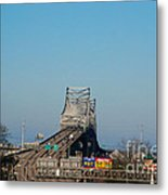 The Horace Wilkinson Bridge Over The Mississippi River In Baton Rouge La Metal Print